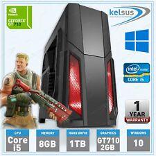 Ultra Fast Quad Core i5 Gaming PC Tower 8GB RAM 1TB HDD WIFI Windows 10 Desktop