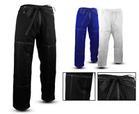 Brazilian Jiu Jitsu Gi Pants Traditinal Style BJJ Uniform Pants White Blue Black