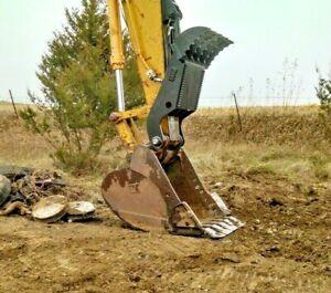 Hydraulic Thumb Caterpillar 320 Excavator pin on Grapple Brush Clamp 318 321 CAT