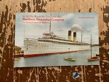 Vintage Northern Steamship Company Great Northern Railway Postcard