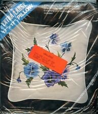 Basket of Pansies - E-Z Patterns Crewel Embroidery Pillow Kit #01-104, 1976