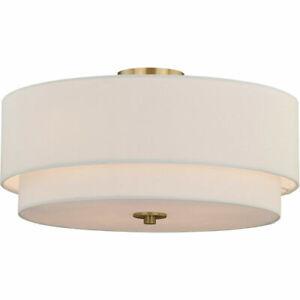 Vaxcel C0112 Burnaby 4 Light 21 inch Matte Brass Semi-Flush Mount Ceiling Light