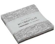 "Metropolis by Moda 42 5"" Charm Pack Precuts 100% Cotton by BasicGrey 30560PP"