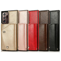 For Samsung Galaxy Note 20 Ultra S20 Plus 5G S10 9 Leather Wallet Card Flip Case