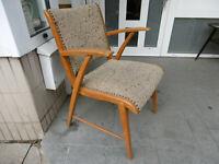 Dänischer  Sessel, 50er Jahre Lounge Chair, skandinavisch, danish, Holz Stoff