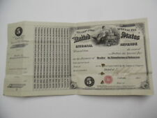 1873 Manufactured Tobacco Dealer Internal Revenue Special Tax Stamp Signed VG