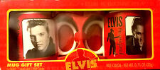 ELVIS PRESLEY MUG GIFT SET-SIGNATURE PRODUCT-COLLECTIBLE-COFFEE/CHOCOLATE CUPS