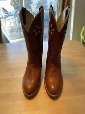 Women's 10 M Dingo Leather Cowboy Boots