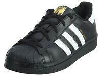 ADIDAS ORIGINALS SUPERSTAR FOUNDATION SHOES Black/White BA8379C Pre School Sz 3