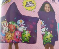 "Shopkins Hooded Beach Bath Swim Towel Wrap 25"" x 50"" PURPLE NEW Cotton Soft"