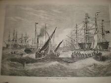 The Baltic fleet at anchor 1855 print