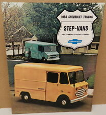 VAN  STEP 7 KING CAMPER V8 V6 DIESEL P30 10 DEALERSHIP 1968 TRUCK CHEVY BROCHURE
