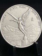 2018 MEXICO 1 oz .999 SILVER LIBERTAD ANTIQUED FINISH - FREE SHIPPING