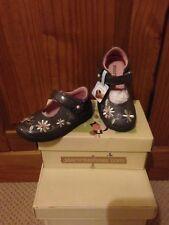 START-Rite Super Suave Miel Abeja Gris patente Riptape Zapatos - 4.5 F
