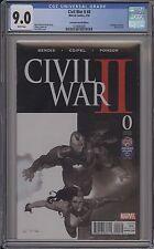 CIVIL WAR II #0 - BLACK AND WHITE RIBIC VARIANT - CGC 9.0 - 1218085005