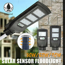 30/60/90W 2835SMD LED Solar Street Wall Light Radar PIR Motion Sensor Lamp IP65