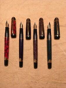 Estate Find Vintage Waterman Paris Fountain Pen Lot of Four I L S M Nibs Used