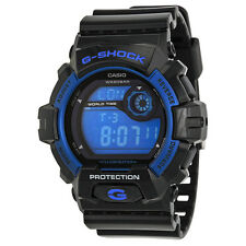 Casio G Shock Blue Dial Black Resin Strap Mens Watch G8900A-1CR