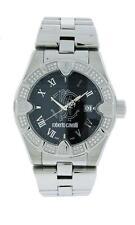 Roberto Cavalli Unisex R7253116525 Diamond White Crystal Black Dial Steel Watch