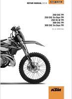 KTM EXC 300 - 250 TPI Repair Manual 2018 - 2019