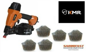 KMR 3551 AIR COIL NAILER WITH 1,800 38MM CONICAL COIL NAILS