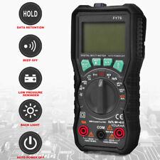 Digital Multimeter Auto Range FY76 AC DC Ammeter Voltmeter Ohmmeter LCD Tester