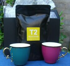 LOVELY  Pair T2  Cup Set With New York Breakfast Tea .