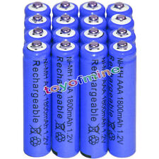 16x AAA battery batteries Bulk Nickel Hydride Rechargeable NI-MH 1800mAh 1.2V Bl