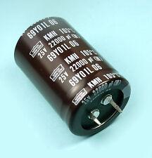 2pcs Nippon Chemi-Con KMH 22000uf 25v 105C Radial Electrolytic Capacitor