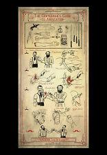 Grande STAMPA INCORNICIATA-il gentleman's Guide all' amputazione (medica anatomia ART)