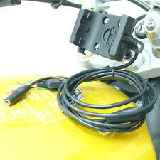 20.5mm - 24.5mm bici del vástago Montaje con audio/cable de alimentación para Garmin Montana
