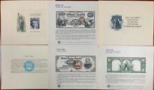 United States BEP B 83-88 Souvenir Cards 1986 Mint