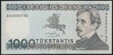 LITHUANIA 1000 Litu (1991) Litas Series AA UNC NEVER ISSUED Banknote