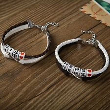 2pcs His and Hers Lovers Matching Couple Handmade Braided Bracelets Lover New