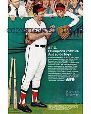 1971 Brooks Robinson Norman Rockwell ATO Ad Reproduction Color 8x10