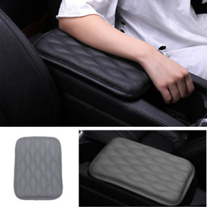 Car Dust-proof PU Leather Gray Armrest Pad Cover Auto Center Console Cushion Mat