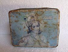 Vintage Special Seven Photo Snuff Ad. God Krishna Print Tin Box