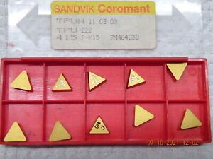 x10 Sandvik TPUN 110308 415 P-K15 Carbide inserts new