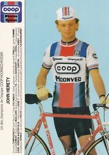 CYCLISME carte cycliste JOHN HERETY équipe COOP HONVED ROSSIN 1984
