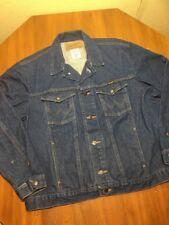 Wrangler Authentic Western Wear Denim JEAN JACKET Trucker Cowboy Men's Size XXL