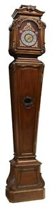 Antique Grandfather Clock, French Mahogany Longcase  Clock, 1800s, Gorgeous!