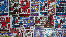 5 Random Mixed Sheets Vinyl Sticker Racing Bumper Car Truck Dirt Bike ATV Wall