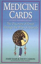 Medicine Cards : The Discovery of Power Through the Ways of Animals by David Carson and Jamie Sams (Cards,Flash Cards, Revised edition,Expanded)