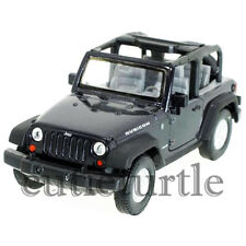 "4.5"" Welly Jeep Wrangler Rubicon 1:32 Diecast Toy Car 42371C-D Black"