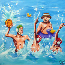 Water Polo gold coast games 2018 by Andy Baker Australia painting art print