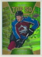 2019-20 Allure TOP 50 Rookie Emerald Green T50-9 Cale Makar /50 Avalanche