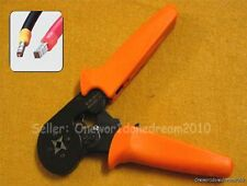Adjustable Ratcheting Ferrule Crimper Pliers For Wire Connector Pin End Terminal