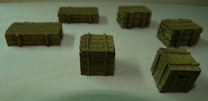 JG Miniatures Diorama Zubehör, M50, Maßstab 1/30, 1/32, 1/35 Munition Boxen