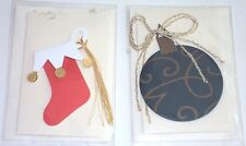 Christmas Stocking And Bulb Mini Card and Envelope, New