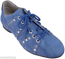 CESARE PACIOTTI US 7 STYLISH & TRENDY STUDDED DENIM SUEDE SPORT SHOES